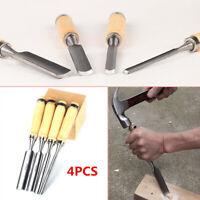 4PCS Alloys Carving Set Wood gouge Chisel Woodworking Tools Handle 6/12/18/24mm