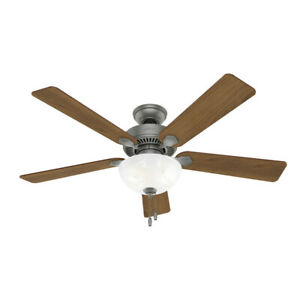 Hunter 52' Swanson Ceiling Fan w/ LED Bowl Light Traditional Casual Pull Chain