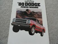 1980 Dodge Power Wagon Sales Brochure
