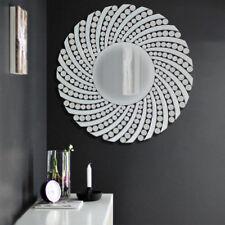 Modern Sunburst Round Lounge Bathroom Venetian Beveled Glass Wall Mirror