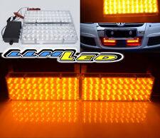 2 x 48 Amber Yellow LED New Panel Flash Emergency Warning Strobe Lamps DC12V A