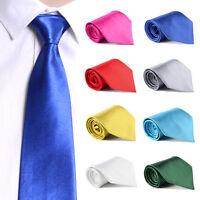 Skinny Slim Tie Solid Color Plain Silk Mens Jacquard Woven Party&Wedding Necktie
