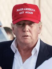 MAKE AMERICA GAY AGAIN HAT Cap Trump Will & Grace LGBQT Lesbian Rainbow Pride