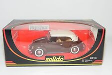 ? SOLIDO 8015 VW VOLKSWAGEN COCCINELLE BEETLE KAFER BROWN CABRIO MINT BOXED