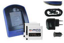 2 Batteries + Chargeur USB NB-8L pour Canon PowerShot A2200, A3000 IS, A3100 IS