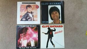 """Cliff Richard - 4 x 7"""" Singles - We Don't Talk Anymore, This New Year + 2 others"""