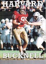 1997 Harvard vs Bucknell Football Program  - Ex Mint