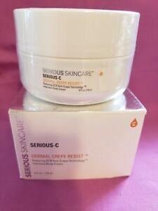 SERIOUS SKIN CARE Serious-C Dermal Crepe Resist Intensive Body Cream 4oz NIB