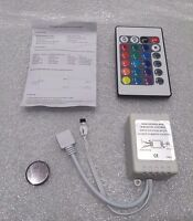 12 Volt 6 Amp 3528/2835/5050 LED Driver with 24 Button Remote (BRG / GRB)
