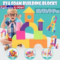 50pcs Building Block EVA Foam Fun Nursery 3D Jigsaw Puzzle Construction Toy UK