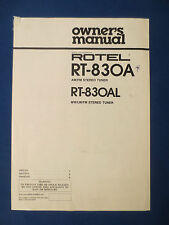 ROTEL RT-830A L TUNER OWNERS MANUAL FACTORY ORIGINAL