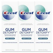 Crest Gum Detoxify Deep Clean Toothpaste, 4.1 Ounce  Pack of 3 Tubes