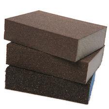 3pcs Polishing Sanding Sponge Block Pad Sandpaper Assorted Grit 100 180 320 Set