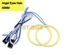 40MM White COB Angel Eyes Halo Car LED Light Ring DRL Halo Headlight Lamp 1 pair