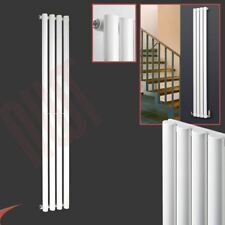 "280mm(w) x 1800mm(h) ""Brecon"" White Designer Vertical Radiator 285 BTU Oval Tube"