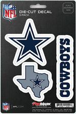 Dallas Cowboys Die-Cut Decal Stickers 3 Pack FAST USA SHIPPER