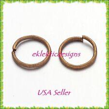 8mm 50pcs Antique Brass Bronze Jump Rings Jewelry Findings Open Split Earrings