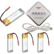 JST Battery Charger Board&4pcs 3.7V 500mAH Battery For U817A U817C RC Helicopter