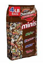Halloween Parties Kids Mini Chocolate Candy bars 4 Lbs Variety Bag