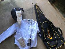 Af Absolute Fencing Gear Eqiuimpments mask, vest, sword, glove, and bag