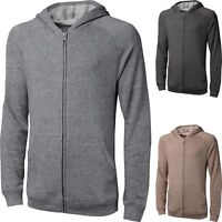 MENS WOMENS CASUAL Zip up HOODIE PLAIN HOODED SWEATSHIRT SOLID French Terry