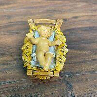 VTG Baby Jesus In Manger Fontanini Nativity Piece Made In Italy 1991