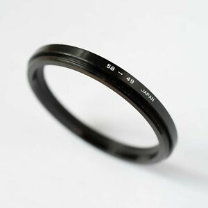 58-49mm STEP DOWN (STEPPING) FILTER RING ADAPTER