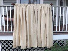 2 Huge Beige Panels of Custom Made Window Treatment Curtain Drapes