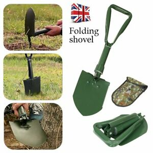 Army Military Folding Spade Shovel Pick Axe 4 in 1 Carbon Steel Camping Tool