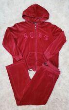 BCBG Women's Hoodie Zip Jacket Pants Red Soft Sweat Suit Set Plus Size 2X XXL