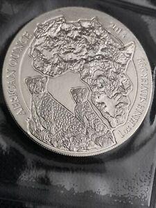 2013 African Rwanda Cheetah 1oz Silver Coin 1 oz bullion fine 999