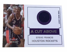 2002-03 Fleer Premium - A Cut Above  3 Steve Francis Game Worn Jersey 835f10472