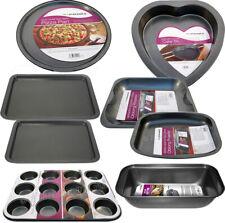 SET OF 8 NON STICK BAKING TRAY PAN SET MUFFIN OVEN ROASTING BAKEWARE ROAST NEW
