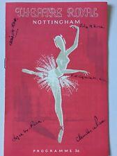 More details for theatre royal. nottingham. programme. signatures. vintage 1954. good condition.