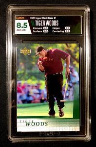 Tiger Woods 2001 Upper Deck Rookie Card RC #1 HGA NM Mint