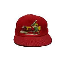 Vintage Zelda Nintendo Corduroy Hat Cap Authentic Snapback Red Boys 1988