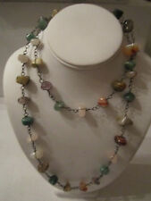 MULTI GEM STONE NECKLACE - MALACHITE, JADE, AMETHYST, PINK QUARTZ & MORE TUB CR