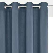 La Redoute Taima Linen/Cotton Single Eyelet Curtain Grey/Blue 150x180cm Bnwt