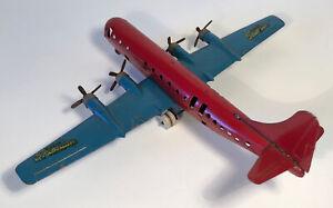 Vintage Wyandotte Boeing 377 Stratocruiser Airplane Pressed Steel