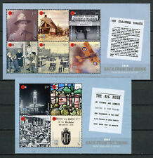 New Zealand NZ 2018 MNH WWI WW1 1918 Back from Brink 10v / 2 M/S Military Stamps