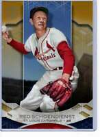 Red Schoendienst 2019 Topps Tribute 5x7 Gold #43 /10 Cardinals