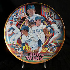 """Collector Plate Sports Impressions Nolan Ryan """"300 Wins"""" Signed Gold Edition"""