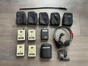 Comtek Pr-72b Set (4 Receivers + 1 Transmitter + 2 Mono Headphones) (Ch. A)