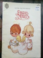 1980 PRECIOUS MOMENTS Religious PM-1 • 18 Cross Stitch Patterns by Gloria & Pat