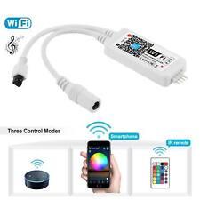 Wifi RGB Smart Controller For 3528 5050 LED Strip Lights Alexa Google Home UK