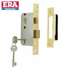 """Era 76mm (3"""") 3 Lever Mortice Sashlock Door Lock Polished Brass Finish"""