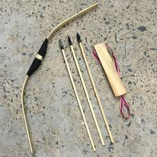 Children/Kid Archery Role Play 3 Arrows &  Quiver & Wooden Safe Bow Set/Ki E