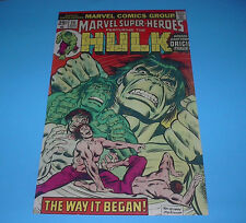 Marvel Comics Famous Covers The Incredible Hulk The Way It Began Poster Pin Up