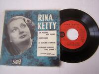 EP 4 TITRES VINYLE 45 T , RINA KETTY , LA MADONE AUX FLEURS . VG  / VG