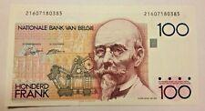 ===>> 100 Francs 100 Frank 1986-1989 Verplaetse VanDroogenbroeck aUNC <<===